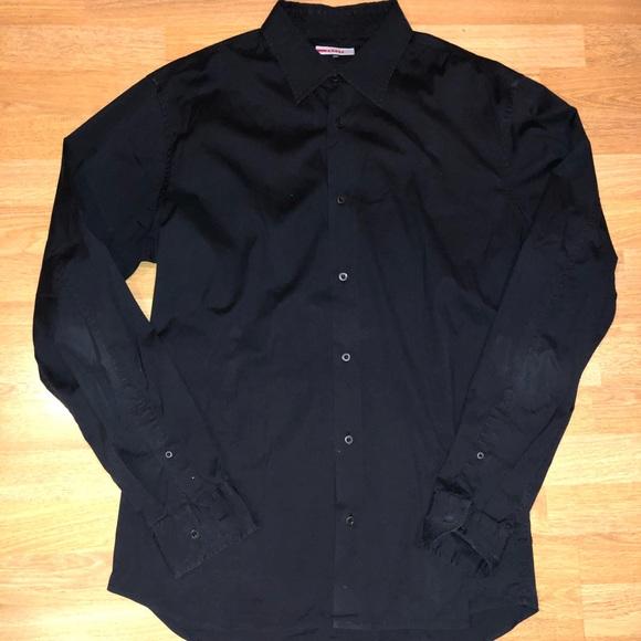 95429ecd Prada size 44 men's black dress shirt